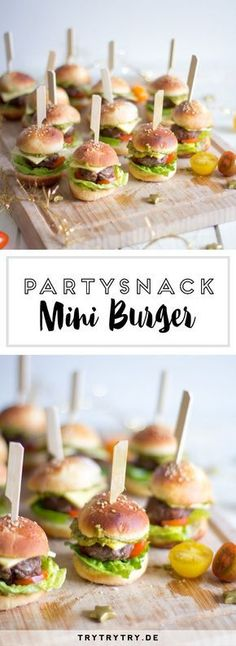 The perfect party snack! Mini-Burger (with the Telekom Sport Package) - Rezepte - Baby The perfect party snack! Mini-Burger (with the Telekom Sport Package) – Rezepte – Snacks Für Die Party, Appetizers For Party, Birthday Snacks, Appetizer Dessert, Appetizer Recipes, Fingerfood Party, Party Finger Foods, Party Buffet, Tapas Buffet