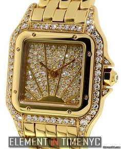Cartier Panthere Collection Panthere Ladies 22mm Factory Diamonds Sunburst Dial New York, NY, USA - JamesEdition.com