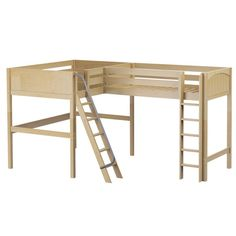 Corner Loft Bed. Combining two loft beds into one and optimize your space. Sleep two people in one bedroom and not lose any floor space! It is fine for kids and adults. Super sturdy.
