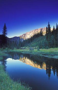 Small Calm Mountain Creek, Kootenays, British Columbia, Canada