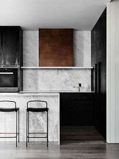 Dita stools from Grazia & Co, seen here in the stunning Port Phillip Bay penthouse apartment by We Are Huntly. Photo by Brooke Holm.