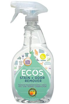 The ECOS 22 oz. Trigger Spray Stain and Odor Remover features non-toxic formula. It is an appropriate choice to clean both porous and non-porous surfaces. Textured Carpet, Patterned Carpet, Green Cleaning, Spring Cleaning, Cleaning Hacks, Cleaning Supplies, Cleaning Products, Odor Remover, Coffee Staining