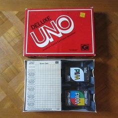 SOLD- Vintage 1978 Deluxe UNO Card Game New in Box Sealed International Games Inc. NOS