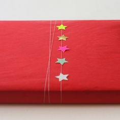 small star stickers gift wrap