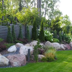 Patio Garden, Cottage Garden, Porch Garden, Rock Garden Design, Landscaping With Boulders, Outdoor Backyard, Garden Planning, Outdoor Landscaping, Backyard