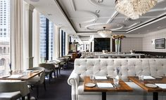 HD Magazine is the leading interior design publication for the hospitality industry. Come here for the best commercial, restaurant, and hotel designs. Luxury Restaurant, Restaurant Lounge, Modern Restaurant, Restaurant Interior Design, Commercial Interior Design, Cafe Interior, Commercial Interiors, Marina Restaurant, Restaurant Lighting