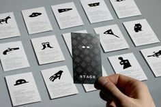 43 best ll business cards images on pinterest business cards brand identity system for stage restaurant in honolulu hi inspired by theatrical character archetypes a series of masks become the flexible reheart Image collections