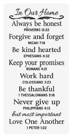 Would like to do this on my big chalkboard . Primitive STENCIL In Our Home Family Rules with Bible Verse The Words, Great Quotes, Quotes To Live By, Super Quotes, Inspirational Family Quotes, Motivational Quotes, Positive Quotes, New Home Quotes, Forgive And Forget