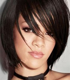 Short Bob Hairstyles With Bangs and Curls