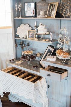shadow creek wedding | dessert hutch | dessert display | decorations | simple…