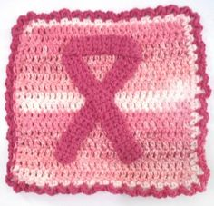 breast cancer dish cloth I love the handmade dishcloths my mom gives me every christmas...I need to learn how to make these!!!