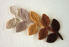 Crochet leaves - leaves-21