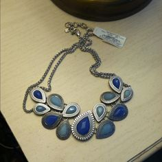 Lucky Brand Blue Collar Beautiful collar, never worn, price firm Lucky Brand Jewelry Necklaces
