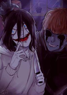 Creepy Art, Scary, Creepy Stuff, Creepy Pasta Family, Eyeless Jack, Crazy About You, Jeff The Killer, Yandere, Anime Guys