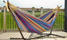 Vivere 9 Ft. Double Hammock with Stand $79.99 (or $59.99 for new Groupon customers)  Free Shipping #LavaHot http://www.lavahotdeals.com/us/cheap/vivere-9-ft-double-hammock-stand-79-99/115171