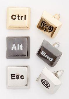 Control-Alt-Delight Earring Set