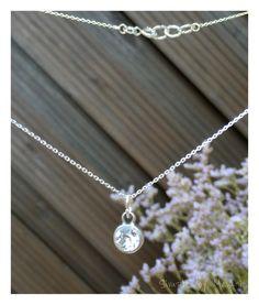 Silberketten - Sterling Silber Rolokette mit Swarovski - ein Designerstück von…