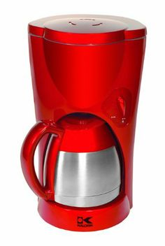 Kalorik TKM-17409 900-Watt 8-10-Cup Coffeemaker with Stainless-Steel Carafe, Red - http://www.teacoffeestore.com/kalorik-tkm-17409-900-watt-8-10-cup-coffeemaker-with-stainless-steel-carafe-red/