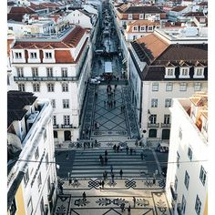 The sweeping panoramic view of Lisbon from the top of Rua Augusta Arch. Surprisingly, there was no queue to go up there each time I walked past the entrance, unlike the one for Santa Justa lift which snaked around the block. I was expecting to pay a fortune for the ticket but it cost a mere €2.50.  via ✨ @padgram ✨(http://dl.padgram.com)