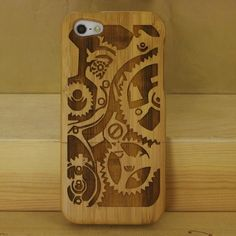 8067539809b Delicate Natural Green Real Wood Wooden Bamboo Carving Hard Back Case Cover  Phone Shell Skin Bag For iPhone 5 iPhone SE