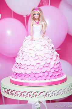 Ruffle Fondant Barbie Cake