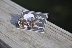 Rose Emblem Earrings in Gray by Tiffany Rose Designs
