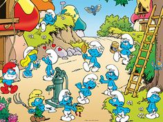 The Smurfs-my daughter loved these little guys!