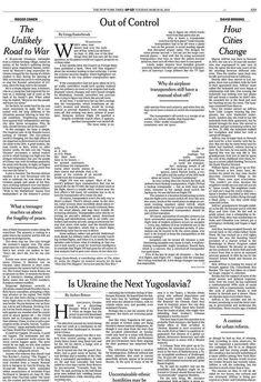 Brian Stauffer _ New York Times, Newspaper layout Web Design, Page Design, Book Design, New York Times, Ny Times, Editorial Layout, Editorial Design, Layout Inspiration, Graphic Design Inspiration