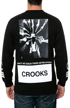 The Stickup Tee in Black by Crooks and Castles