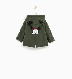 Image 5 of MINNIE MOUSE PARKA WITH HOOD from Zara