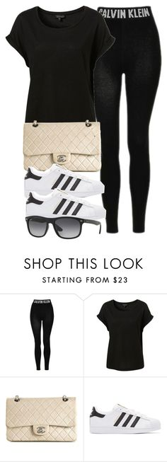 """""""Style  #10637"""" by vany-alvarado ❤ liked on Polyvore featuring Topshop, Chanel, adidas Originals and Ray-Ban"""