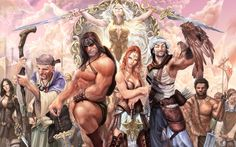 Fantasy - Conan The Barbarian Sfondi Conan O Barbaro, Vikings, Conan Comics, Fantasy Literature, Marvel E Dc, Conan The Barbarian, Sword And Sorcery, Fantasy Warrior, Fantasy Artwork