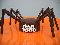 not martha — to make: crawly cakes for halloween!!! so easy especially mini brownie bites
