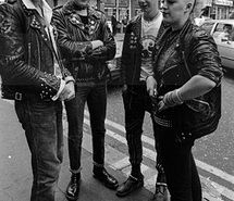 Inspiring picture black and white, mohawk, punks. Resolution: 278x512 px. Find the picture to your taste!