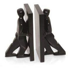 Kikkerland Bookend Men Pushing Nice addition to any office or home library Decorative Accessories, Home Accessories, Modern Bookends, Hall Furniture, Man Office, Machine Age, Figure It Out, Creative Gifts, Home Kitchens