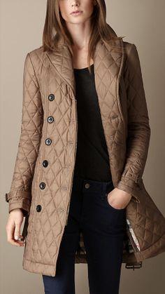 Mid-length Diamond Quilt Trench Coat | Burberry