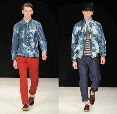Oliver Spencer 2014 Spring Summer Mens Runway - London Collections Men Fashion Show Catwalk: Designer Denim Jeans Fashion: Season Collections, Runways, Lookbooks and Linesheets