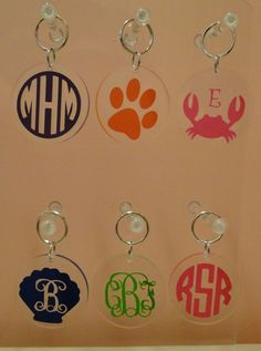 Bright Personalized Acrylic Key Chains- The Monogram Merchant