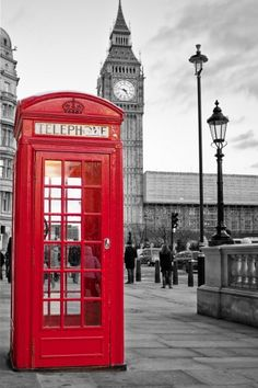 Love this vintage telephone booth!