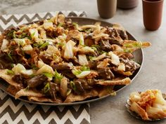 Cooking Channel serves up this Korean Nachos recipe plus many other recipes at… Asian Recipes, Ethnic Recipes, Nacho Recipes, Crockpot Recipes, Slow Cooker Recipes, Cooking Recipes, Homemade Nachos, Braised Short Ribs, Appetizer Recipes