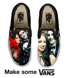 """""""Chris Motionless and Ashley Costello Vans"""" by alicehorrorx ❤ liked on Polyvore featuring Vans"""