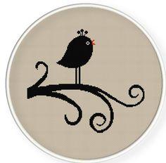 Buy 4 get 1 free ,Buy 6 get 2 free,Cross stitch pattern, PDF,bird,ZXXC0165. $4.00, via Etsy.