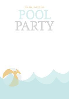 pool party invitation free printables summer party