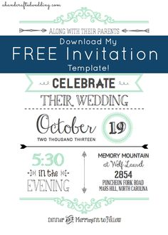 11 FREE Wedding Invitation Templates - A Handcrafted Wedding