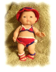 Bikini for 5 Inch Berenguer by alcarrico32 on Etsy, $3.99