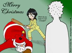 Merry Christmas from Ichigo and Rukia :) #bleach