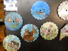 Painting of all kinds on saw blades.