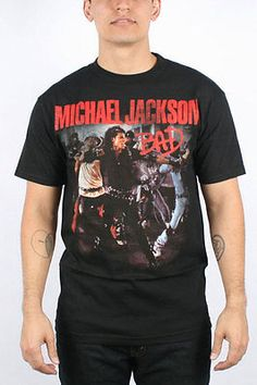Michael Jackson - Mens Bad shirt. I need this shirt! My favorite music video and song.