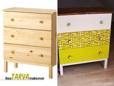 Finally! Look what I've made... It's already about half a year ago since I've bought this tarva dresser from Ikea - with the idea of giving it a face lift... but it didn't happen a lot - till last ...