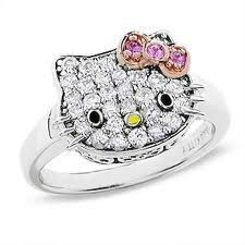 """Hello Kitty Ring.  I would wear it...Unfortunately my daughter won't. She said its for """"lil girls""""!"""